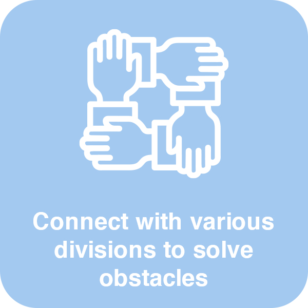 Connect with various divisions Element #2
