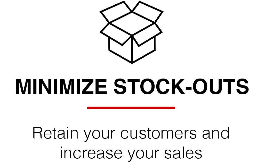 Minimize stock-outs icon landing page