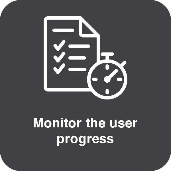 Monitor the user progress Element #2