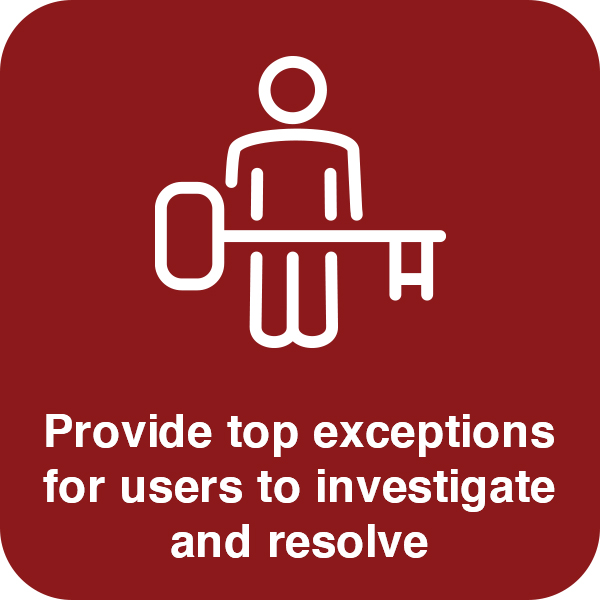 Provide top exceptions Element #2